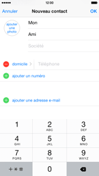 Apple iPhone 6 iOS 8 - Contact, Appels, SMS/MMS - Ajouter un contact - Étape 8