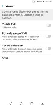 LG K12+ - Wi-Fi - Como usar seu aparelho como um roteador de rede wi-fi - Etapa 4