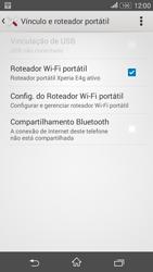 Sony Xperia E4G - Wi-Fi - Como usar seu aparelho como um roteador de rede wi-fi - Etapa 14