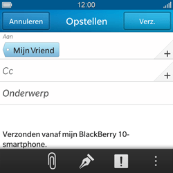 BlackBerry Q10 - E-mail - e-mail versturen - Stap 8