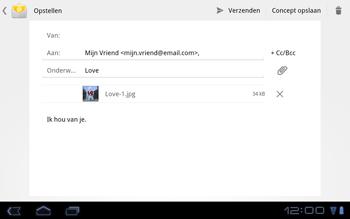 Huawei Mediapad S7-301u - E-mail - Hoe te versturen - Stap 10