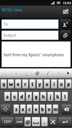 Sony ST25i Xperia U - E-mail - Sending emails - Step 5