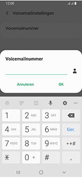 Samsung Galaxy A40 - Voicemail - handmatig instellen - Stap 13