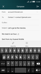 Huawei Y635 Dual SIM - Email - Sending an email message - Step 11