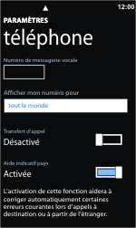 Nokia Lumia 800 - Messagerie vocale - Configuration manuelle - Étape 8