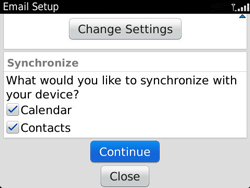 BlackBerry 9360 Curve - Email - Manual configuration - Step 12