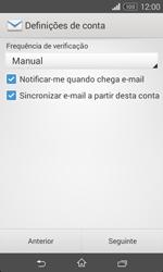Sony Xperia E1 - Email - Configurar a conta de Email -  17