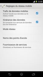 Sony Xpéria M2 - Aller plus loin - Désactiver les données à l'étranger - Étape 6