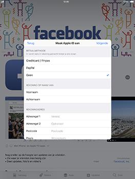 Apple iPad Pro 10.5 inch met iOS 11 (Model A1709) - Applicaties - Account aanmaken - Stap 15