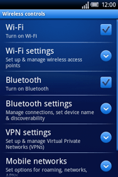 Sony Ericsson Xperia X8 - Internet - Enable or disable - Step 5