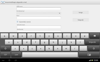 Sony SGP321 Xperia Tablet Z LTE - E-mail - Handmatig instellen - Stap 13
