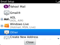 BlackBerry 9360 Curve - Email - Manual configuration - Step 7