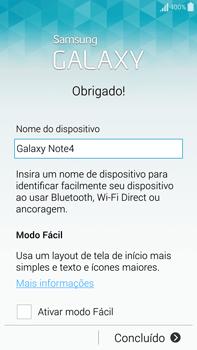 Samsung N910F Galaxy Note 4 - Primeiros passos - Como ativar seu aparelho - Etapa 16
