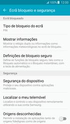 Samsung Galaxy J5 - Segurança - Como ativar o código de bloqueio do ecrã -  12