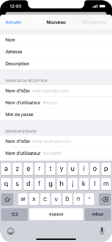 Apple iPhone XR - iOS 13 - E-mail - Configuration manuelle - Étape 12