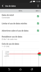 HTC One M8 - Internet - Ver uso de datos - Paso 10