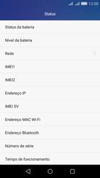 Huawei Y6 - Primeiros passos - Como encontrar o número de IMEI do seu aparelho - Etapa 5