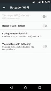 Motorola Moto G (4ª Geração) - Wi-Fi - Como usar seu aparelho como um roteador de rede wi-fi - Etapa 5