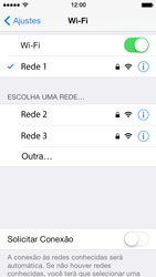 Apple iPhone iOS 7 - Wi-Fi - Como configurar uma rede wi fi - Etapa 7