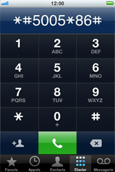 Apple iPhone 4 S - Messagerie vocale - configuration manuelle - Étape 5