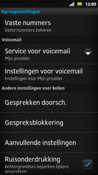 Sony MT27i Xperia Sola - Voicemail - Handmatig instellen - Stap 5