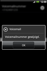HTC A510e Wildfire S - Voicemail - handmatig instellen - Stap 7