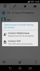 Sony Xpéria E3 - Contact, Appels, SMS/MMS - Ajouter un contact - Étape 7