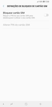 Samsung Galaxy Note9 - Segurança - Como ativar o código PIN do cartão de telemóvel -  7