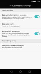 Huawei P8 - Device maintenance - Terugkeren naar fabrieksinstellingen - Stap 5