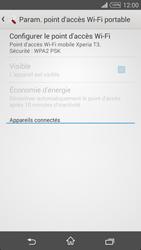 Sony Xpéria T3 - Internet et connexion - Partager votre connexion en Wi-Fi - Étape 11