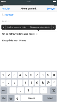 Apple iPhone 6s Plus - E-mail - Envoi d