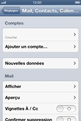 Apple iPhone 4 S iOS 6 - E-mail - Configuration manuelle - Étape 12