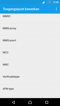 Sony Xperia Z5 Premium (E6853) - Internet - Handmatig instellen - Stap 12