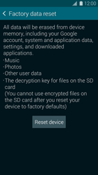 Samsung Galaxy S5 mini - Device maintenance - How to do a factory reset - Step 7