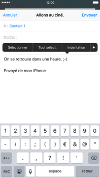 Apple iPhone 6 Plus iOS 9 - E-mail - envoyer un e-mail - Étape 8