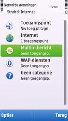 Nokia C6-00 - MMS - handmatig instellen - Stap 7