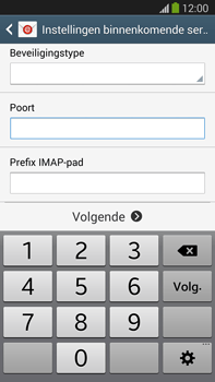 Samsung N9005 Galaxy Note III LTE - E-mail - Account instellen (IMAP zonder SMTP-verificatie) - Stap 10