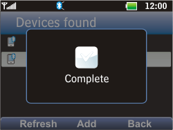 LG C360 Golf - Bluetooth - Pair with another device - Step 9