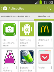 Samsung Galaxy Pocket Neo - Aplicações - Como pesquisar e instalar aplicações -  12