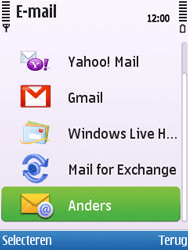 Nokia C5-00 - E-mail - handmatig instellen - Stap 8