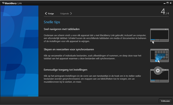 BlackBerry Leap - Software - Download en installeer PC synchronisatie software - Stap 17