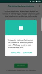Samsung Galaxy S6 Edge - Android Nougat - Aplicações - Como configurar o WhatsApp -  12