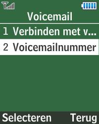 Samsung E1270 - Voicemail - Handmatig instellen - Stap 7