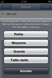 Apple iPhone 4 S - iOS 6 - E-mail - envoyer un e-mail - Étape 11