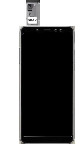 Samsung galaxy-a8-2018-sm-a530f-android-pie - Instellingen aanpassen - SIM-Kaart plaatsen - Stap 10