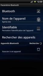 Sony Ericsson Xperia Neo V - Bluetooth - connexion Bluetooth - Étape 10