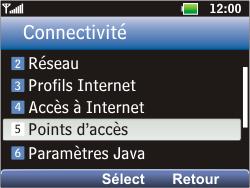LG C360 Golf - Internet - Configuration manuelle - Étape 5