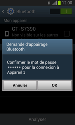 Samsung S7390 Galaxy Trend Lite - Bluetooth - connexion Bluetooth - Étape 9