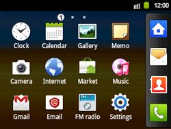 Samsung B5510 Galaxy TXT - MMS - Manual configuration - Step 3