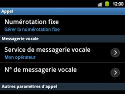 Samsung B5510 Galaxy TXT - Messagerie vocale - Configuration manuelle - Étape 5
